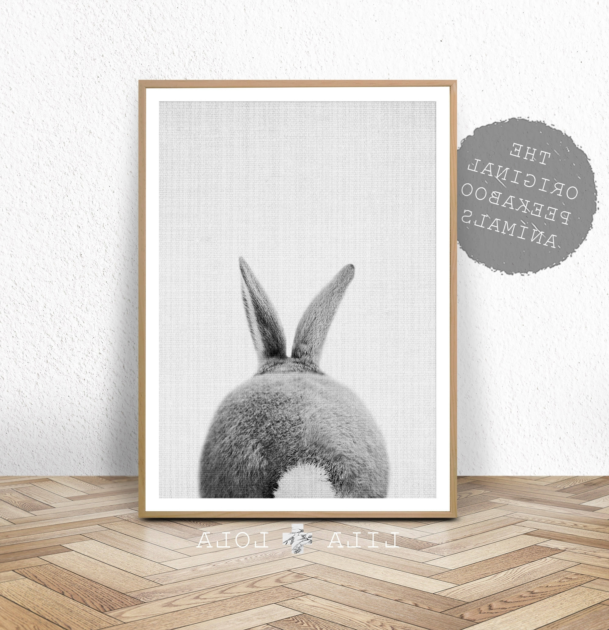 Nursery Print, Bunny Rabbit Tail Wall Art, Printable Instant Digital Throughout Fashionable Bunny Wall Art (View 15 of 20)