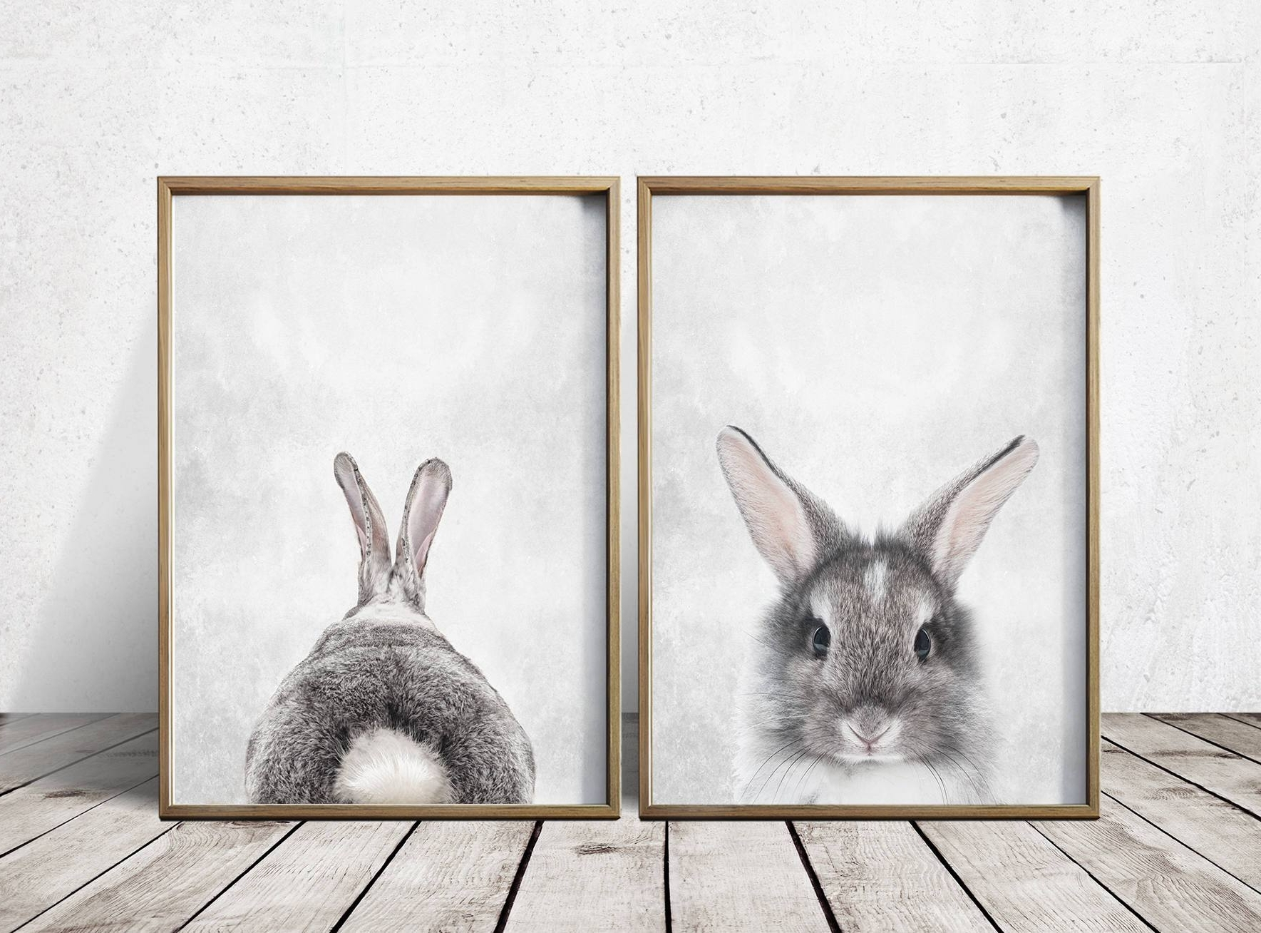 Nursery Wall Art Nursery Decor Gray Rabbit Print Bunny, Vintage Inside Most Up To Date Bunny Wall Art (View 4 of 20)