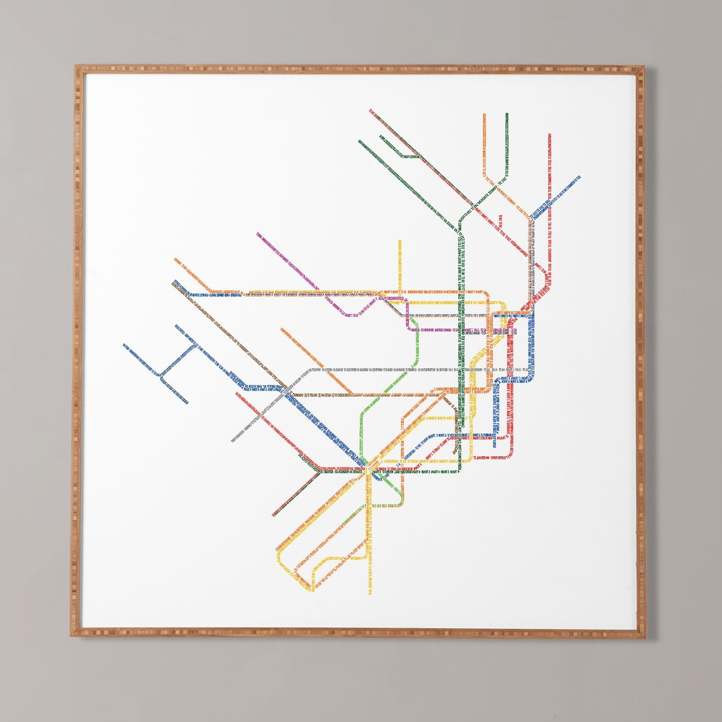 Nyc Subway Map Wall Art With Regard To Most Up To Date Nyc Subway Map' Framed Wall Art & Reviews (View 3 of 20)