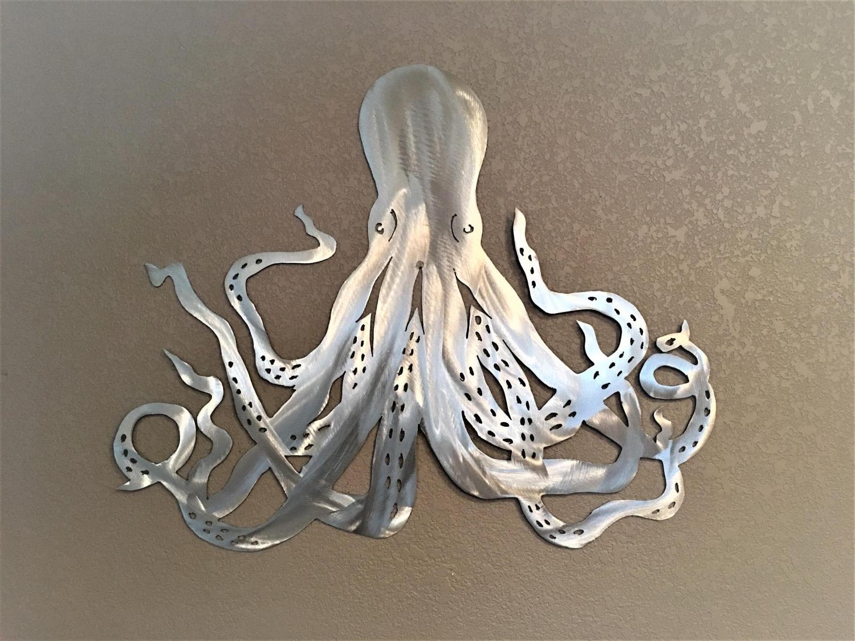 Octopus Wall Art With Regard To Recent Octopus Metal Wall Art. Ocean Life, Saltwater Series (View 13 of 20)