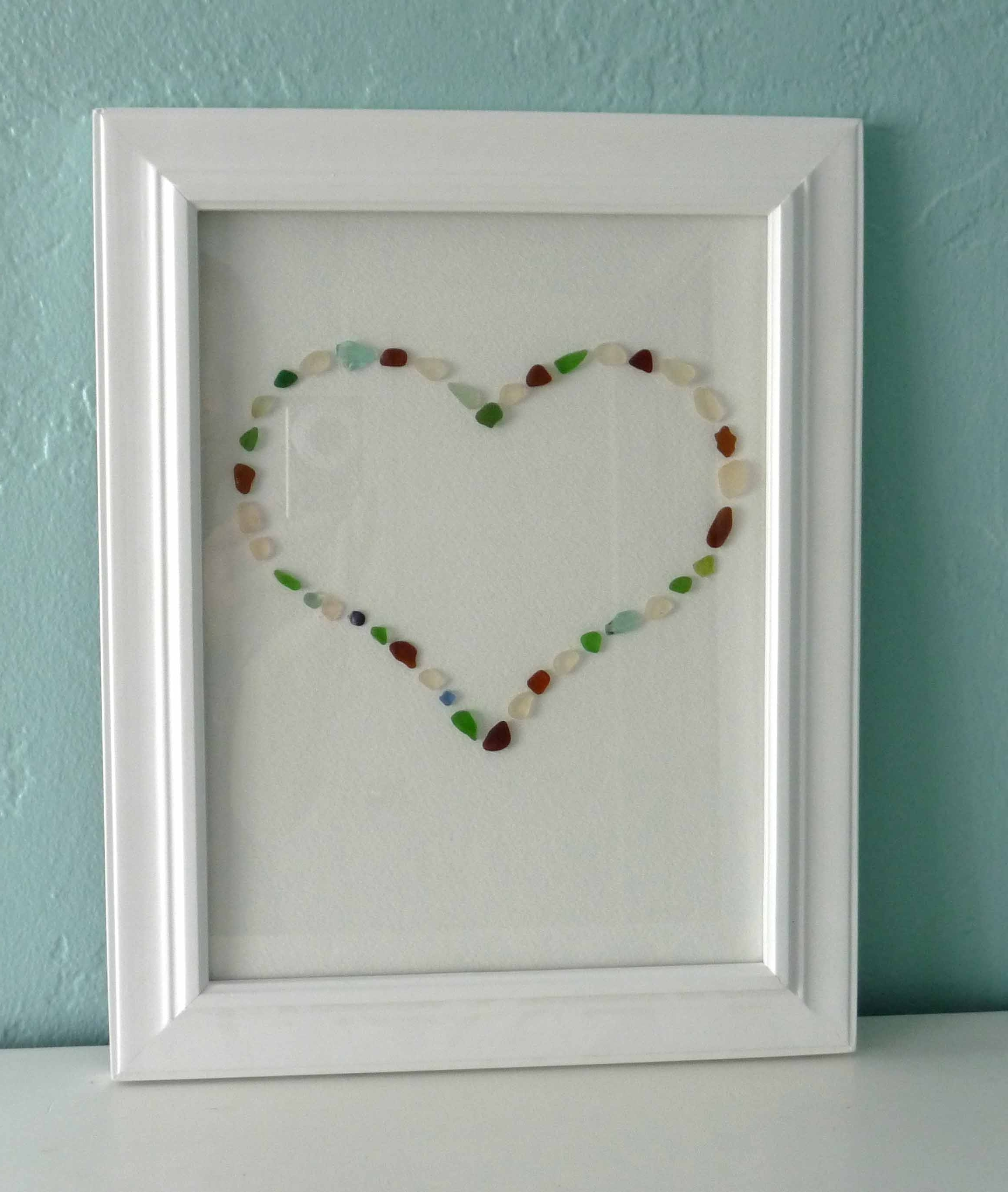 One Pretty Thing Diy Craft Tutorials, Sea Glass Wall Art – Swinki For Recent Sea Glass Wall Art (View 6 of 15)