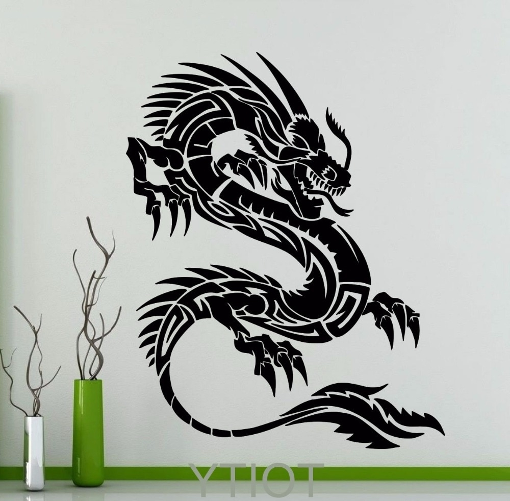 Orient Dragon Wall Sticker Mythology Vinyl Decal Chinese Style Long In Trendy Dragon Wall Art (View 16 of 20)