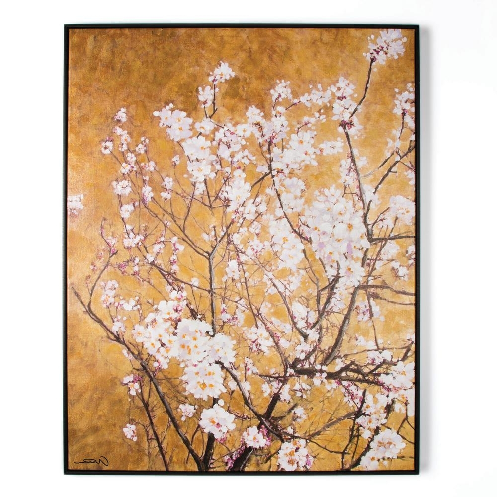 "Oriental Wall Art With Best And Newest Graham & Brown 35 In. X 28 In. ""oriental Blossom"" Framed Printed (Gallery 7 of 20)"