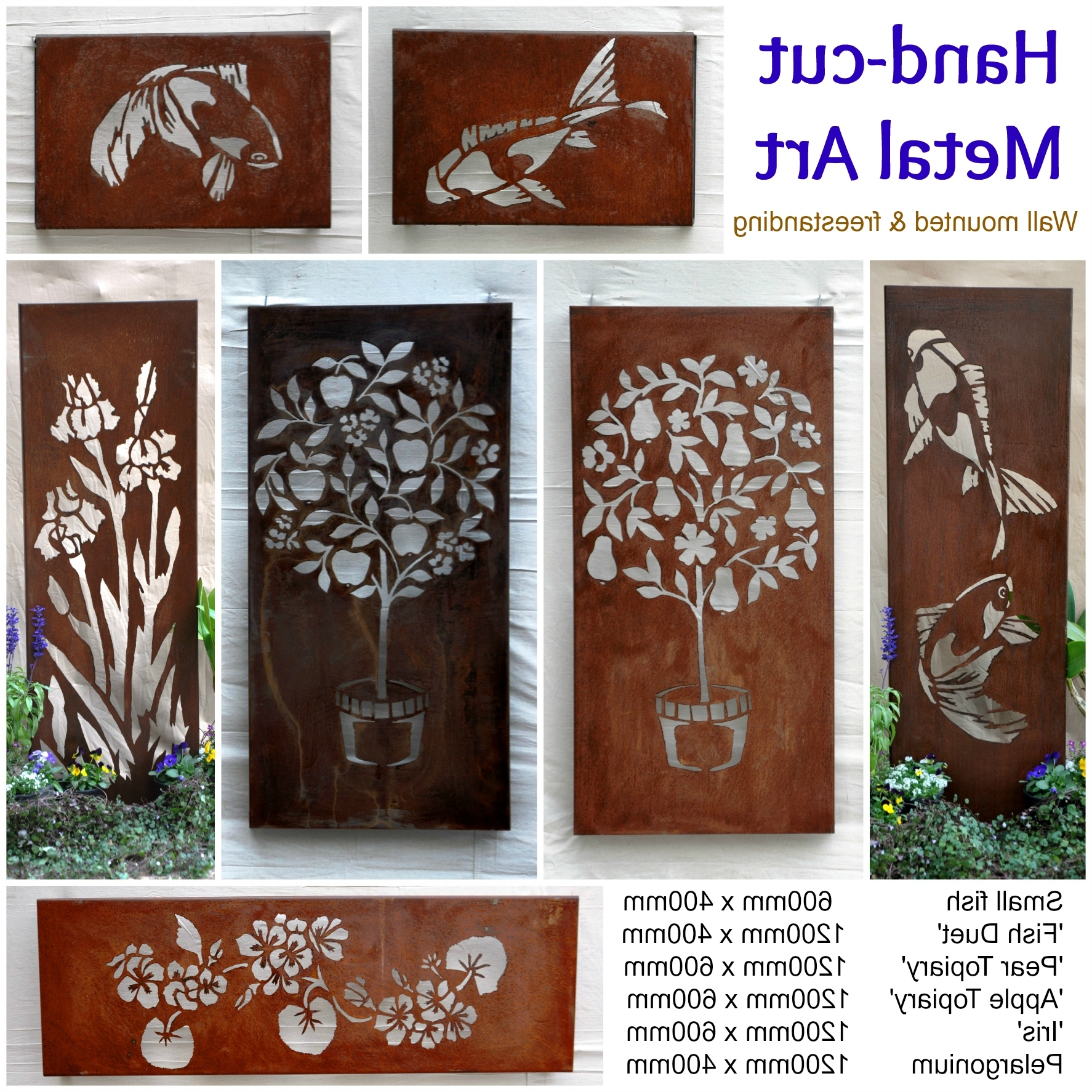 Outdoor Metal Wall Art Intended For Latest Outdoor Metal Wall Art Amazon Decorative Butterfly Horizontal (View 6 of 15)