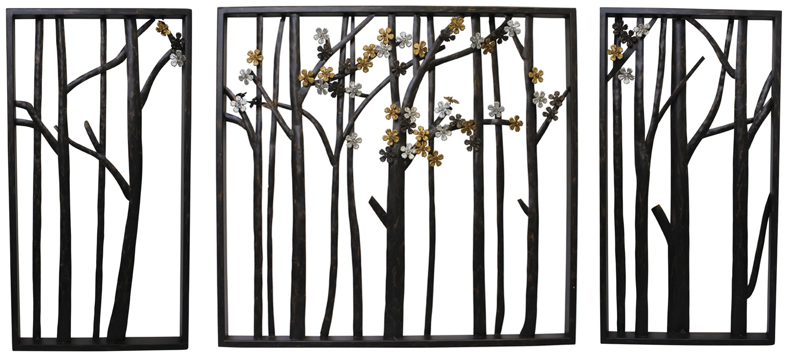 Outdoor Metal Wall Art Regarding Most Recent Outdoor Metal Beach Wall Decor Black Birds Art Dining Set Sling (View 5 of 15)