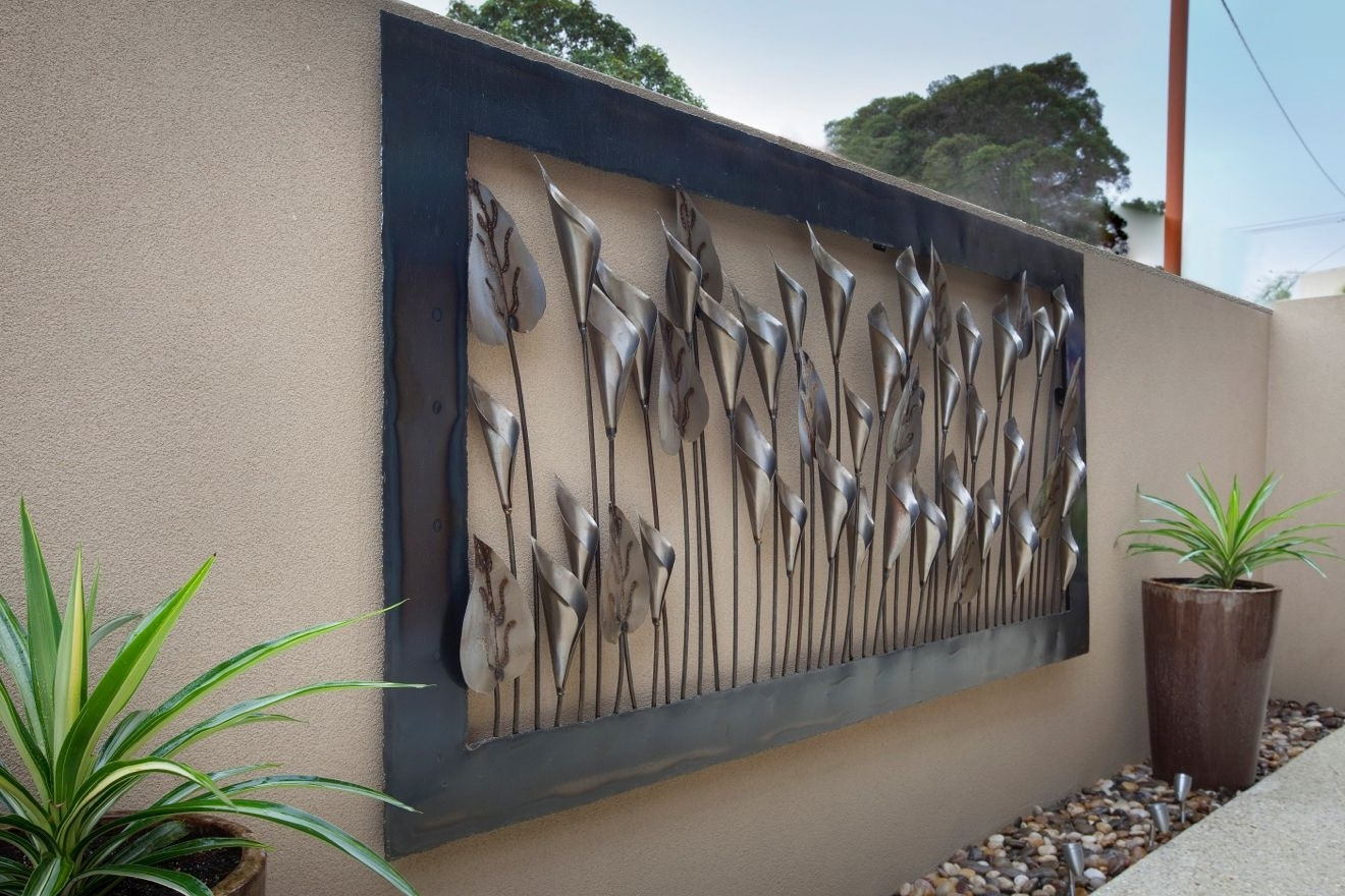 Outdoor Metal Wall Art Within Best And Newest 1200 X 2400 Silver Lily Outdoor Metal Wall Art (1320×880) (View 9 of 15)