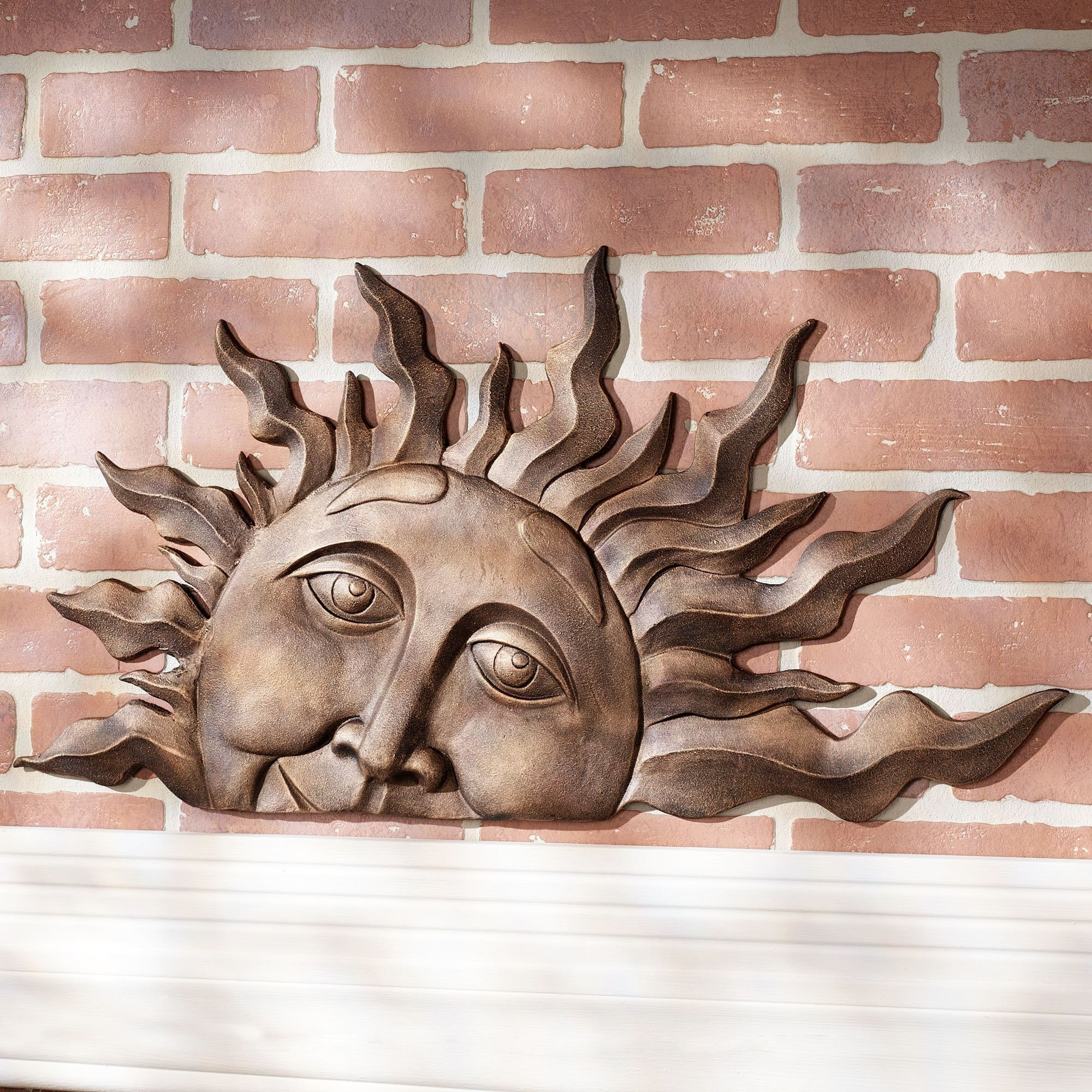 Outdoor Sun Wall Art Intended For Most Up To Date Half Sun Face Indoor Outdoor Metal Wall Plaque Art (Gallery 10 of 15)