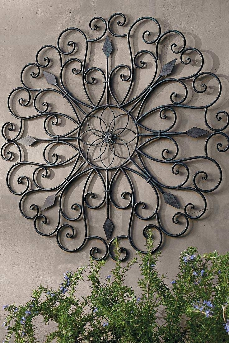 Outdoor Wall Decor Metal Wrought Iron Wall Decor Metal Wall Hanging Within Fashionable Large Outdoor Metal Wall Art (Gallery 13 of 20)