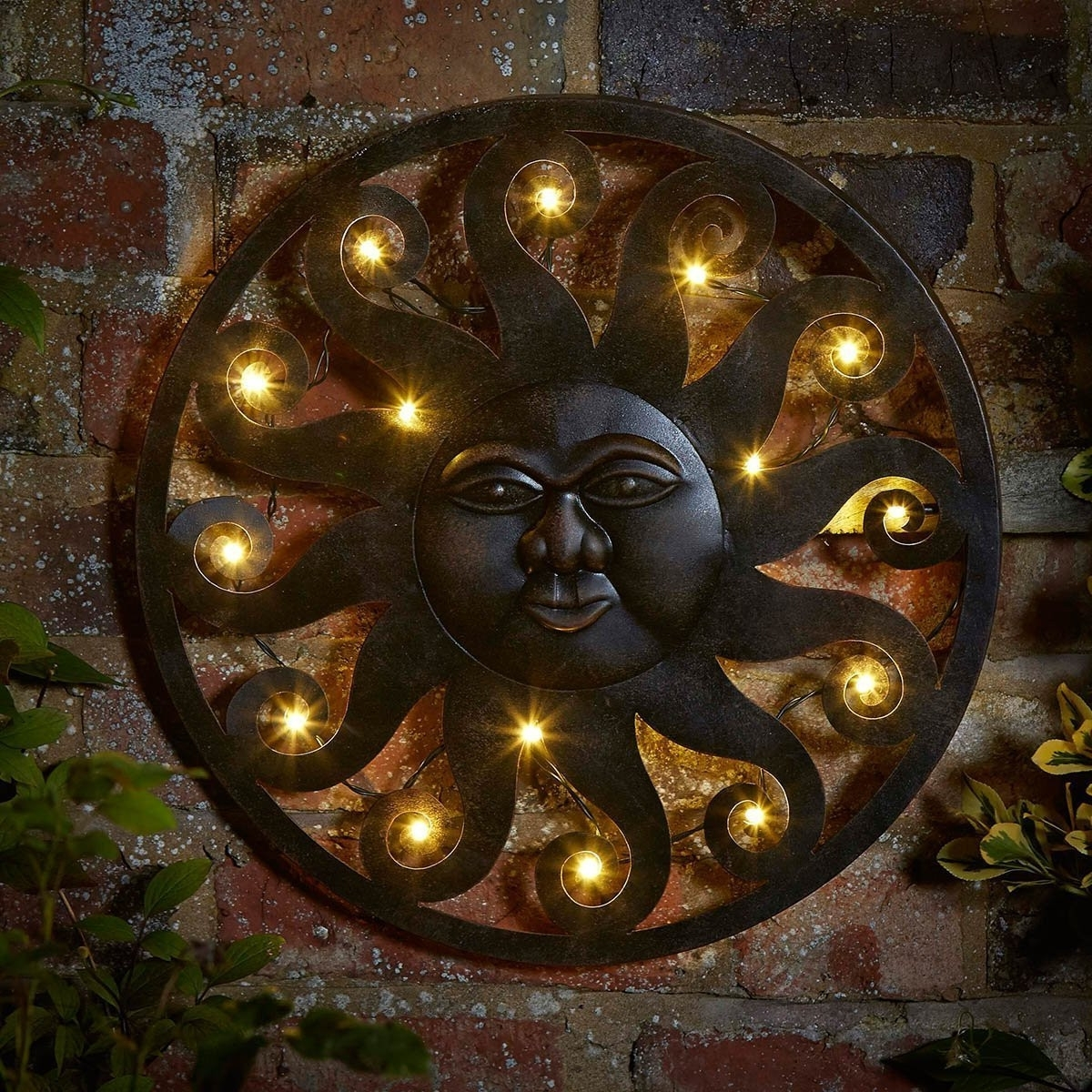 Outside Wall Decorations Elegant Outdoor Metal Sun Wall Art Into The Within Fashionable Outdoor Sun Wall Art (View 11 of 15)
