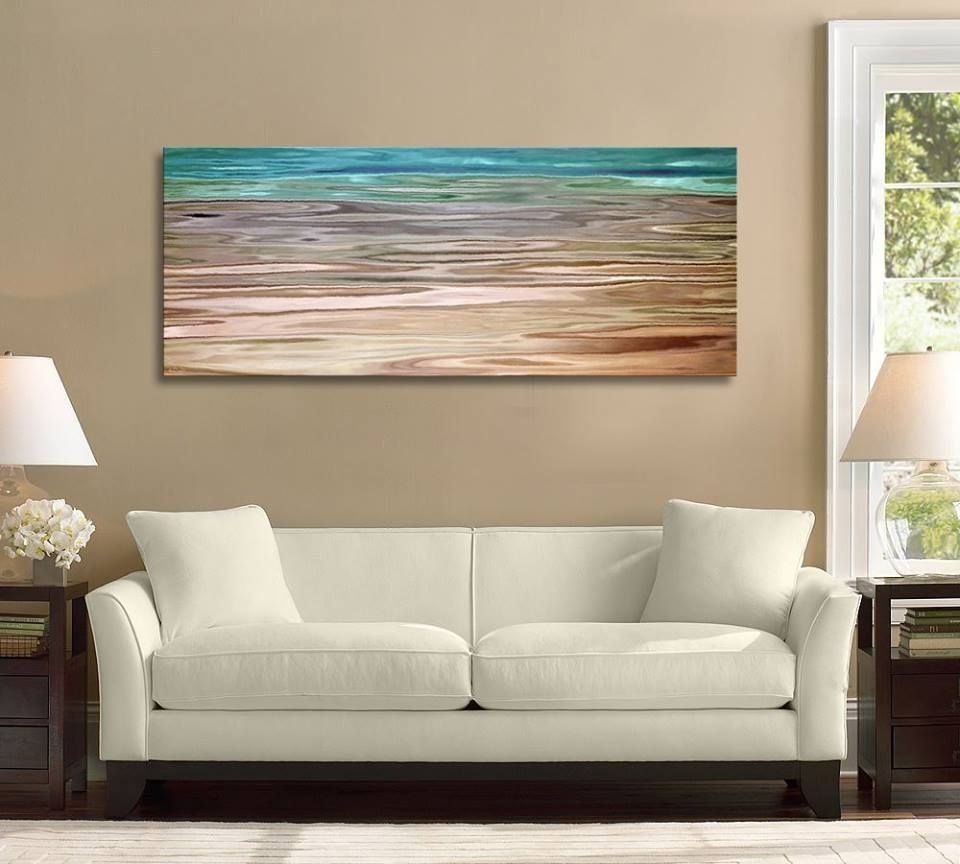 Oversized Teal Canvas Wall Art Intended For Well Known Framed Vs Unframed Canvas Art Unframed (View 10 of 20)