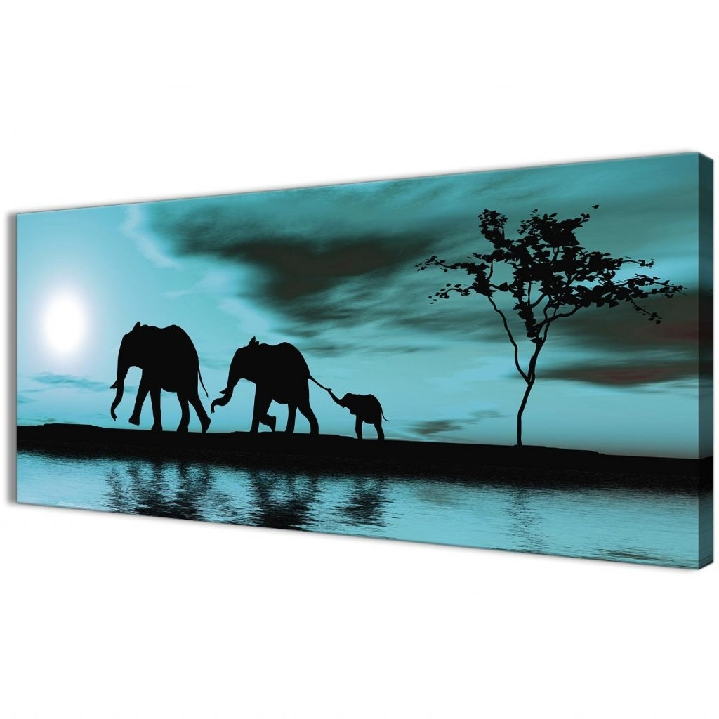 Oversized Teal Canvas Wall Art Intended For Well Known Sofa Ideas (View 11 of 20)