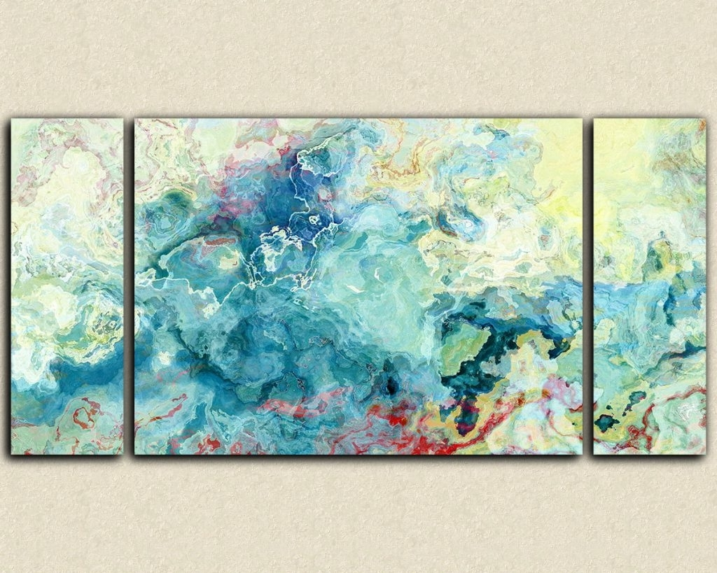 Oversized Teal Canvas Wall Art With Regard To Recent Oversized Abstract Canvas Wall Art – Blogtipsworld (View 13 of 20)