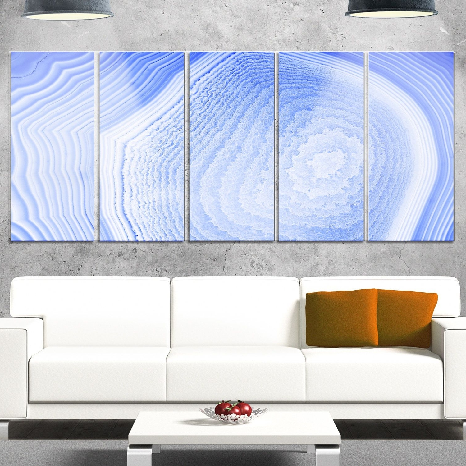 Overstock Wall Art Inside Popular Designart 'dark Agate Structure' Modern Abstract Glossy Metal Wall (Gallery 12 of 20)