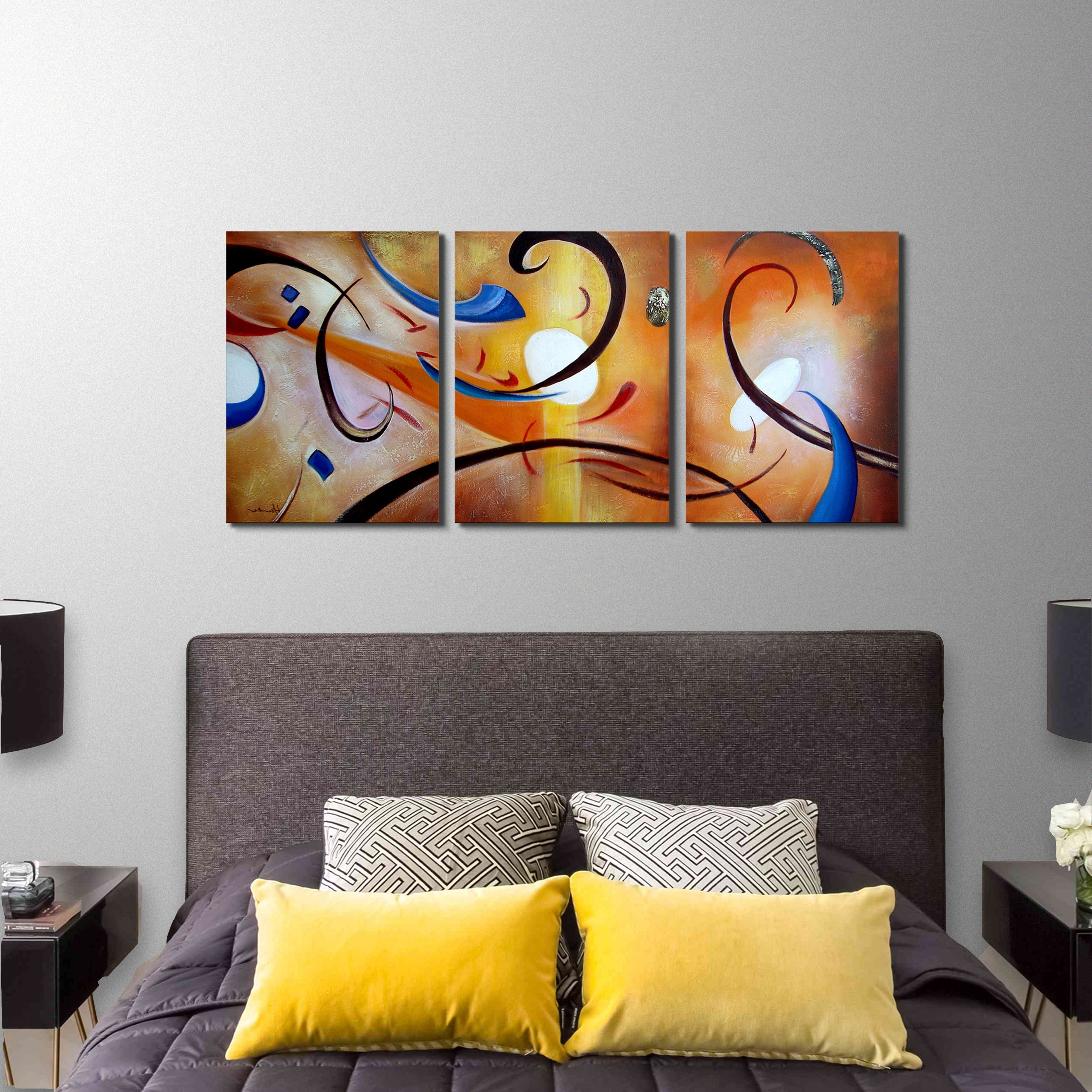 Overstock Wall Art Intended For Most Current Shop Clay Alder Home Happiness Abstract' Hand Painted Gallery (View 6 of 20)