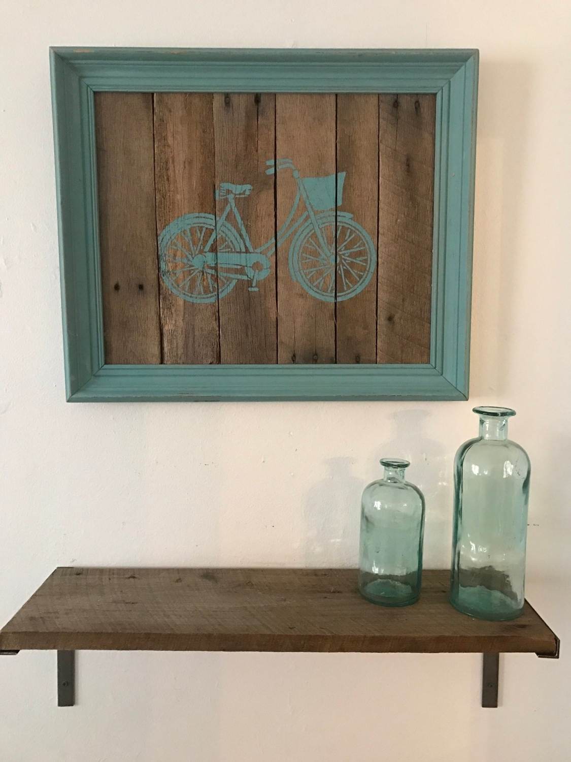 Pallet Wall Art Pertaining To Newest Bicycle Pallet Wall Art (View 10 of 15)