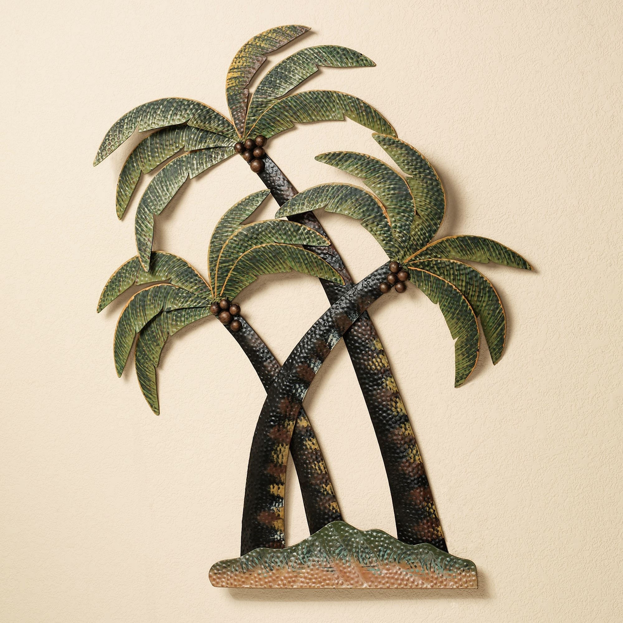 Palm Tree Wall Art With 2017 Coco Palm Tree Metal Wall Sculpture (View 15 of 20)