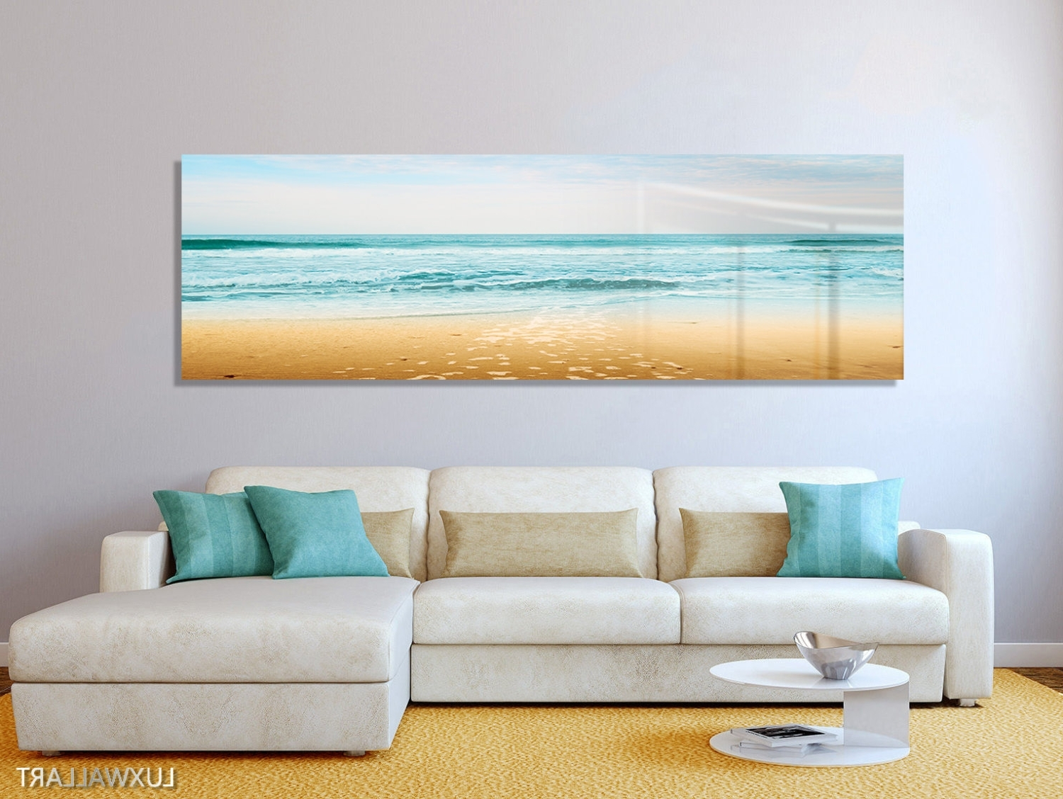 Panoramic Wall Art For Best And Newest Turquoise Beach Ocean Panoramic Modern Contemporary Hd Metal (Gallery 9 of 15)