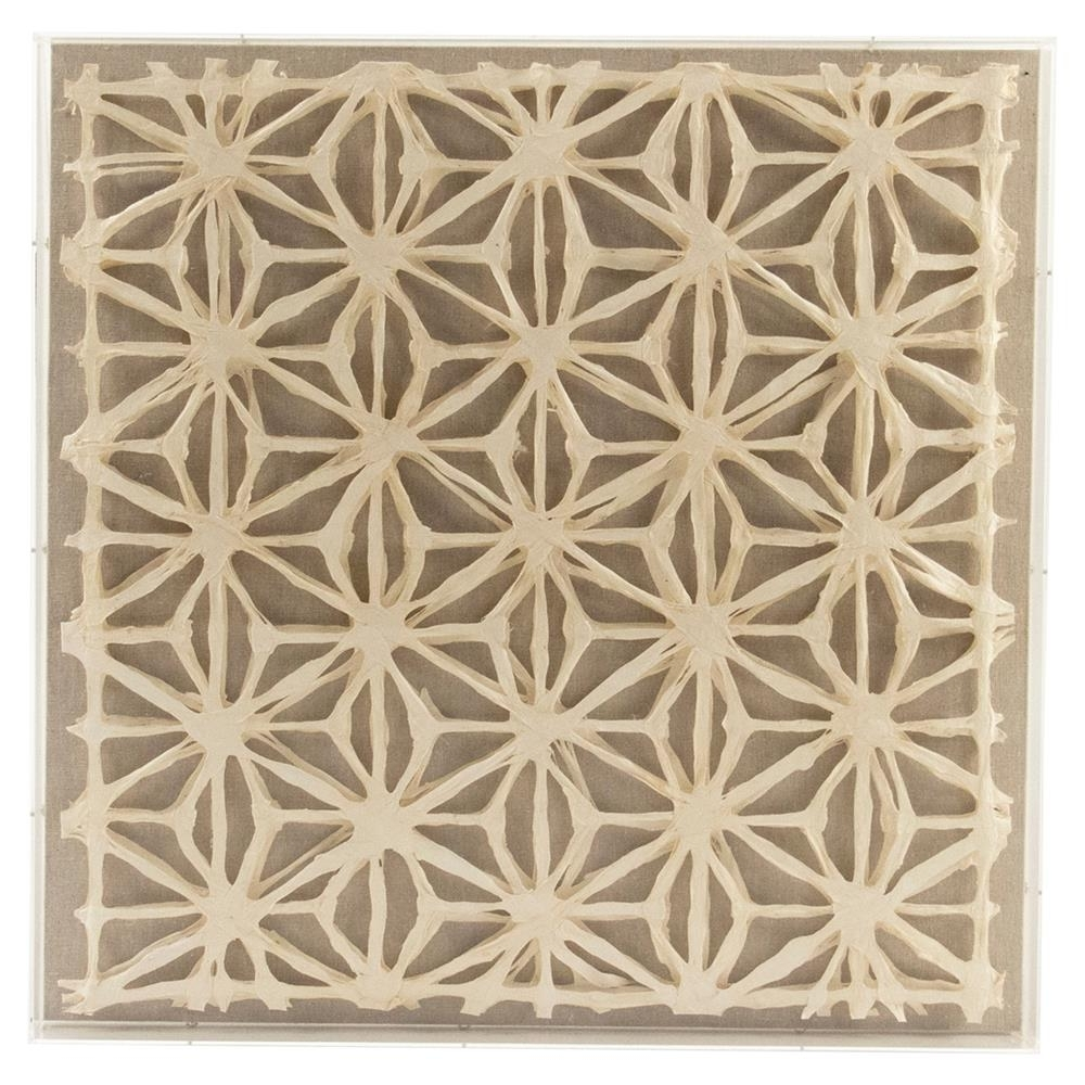 Paper Wall Art Inside Best And Newest Cari Modern Classic Abstract Geometric Acrylic Framed Paper Wall Art (View 3 of 20)