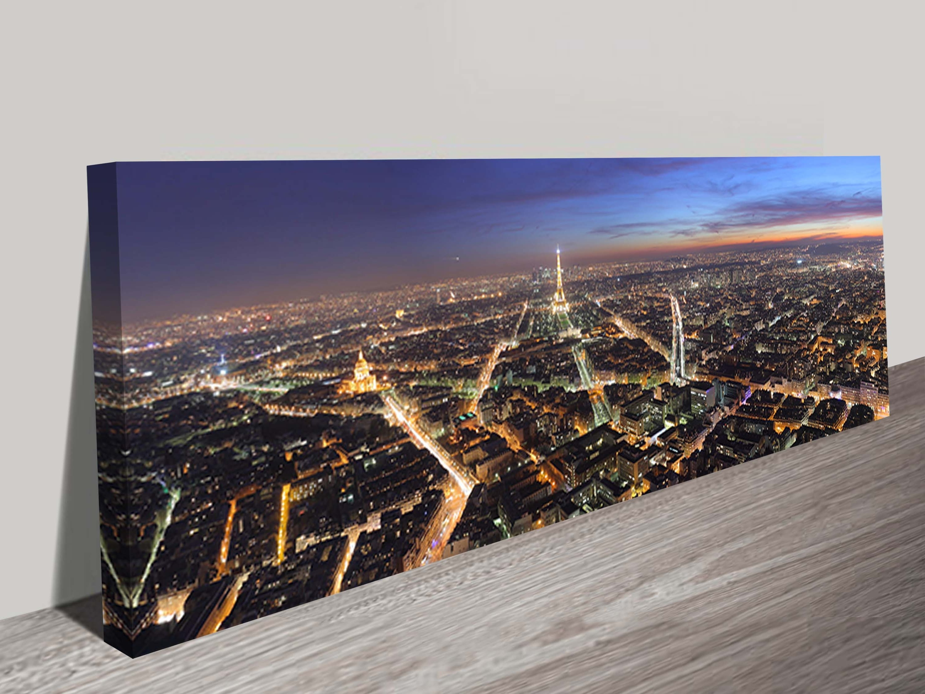 Parisnight Panoramic Canvas Wall Art Within Preferred Cheap Canvas Wall Art (View 12 of 15)