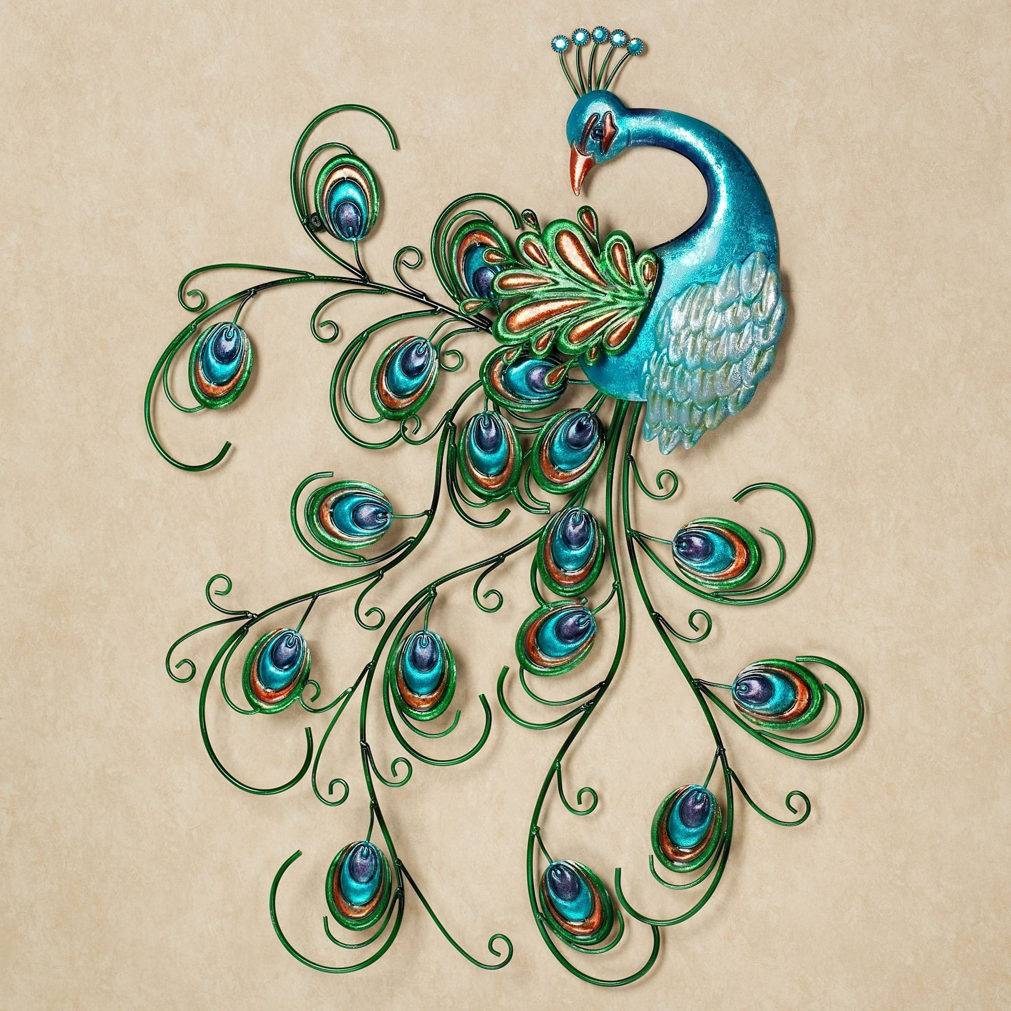 Peacock Wall Art Pertaining To Most Recent Lovely Peacock Wall Art Design Of Metal Peacock Wall Decor Of Metal (View 3 of 15)