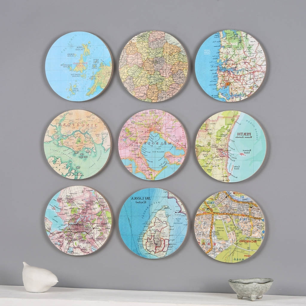 Personalised Map Location 3D Circle Wall Artbombus Intended For Favorite Circle Wall Art (Gallery 2 of 20)