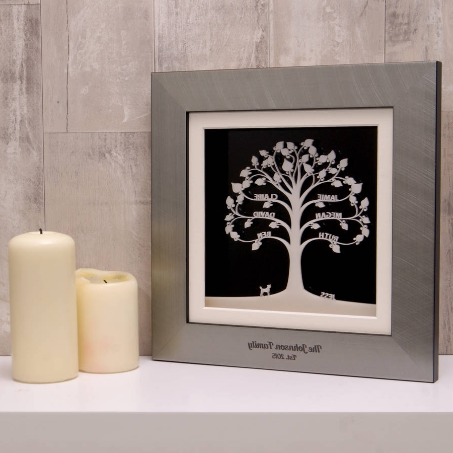 Personalised Modern Acrylic Family Tree Wall Arturban Twist In Famous Acrylic Wall Art (View 14 of 20)