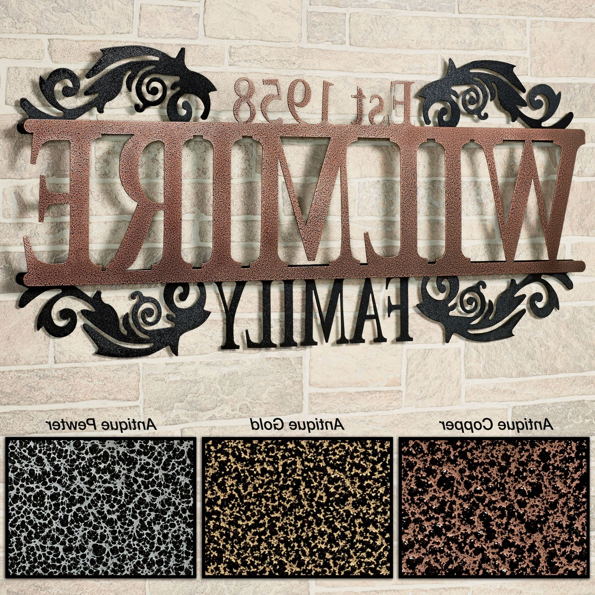 Personalized Metal Wall Art Intended For Fashionable Legacy Family Established Year Personalized Metal Wall Art Sign (View 13 of 20)