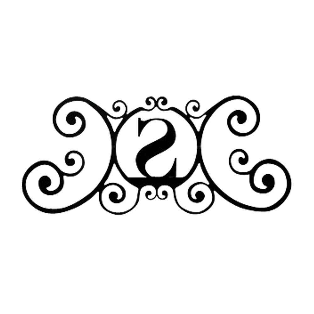 Personalized Metal Wall Art Pertaining To Most Current Personalized Embossed Letter Monogram Metal Wall Art – Super Tech (View 20 of 20)
