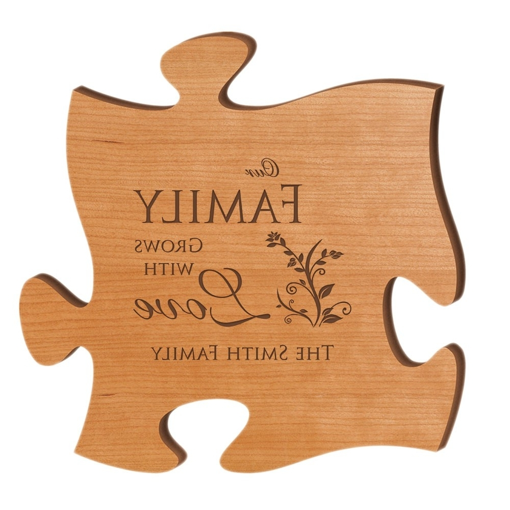 Personalized Wood Wall Art Inside Widely Used Our Family Grows With Love Personalized Wood Puzzle Wall Art (View 11 of 20)
