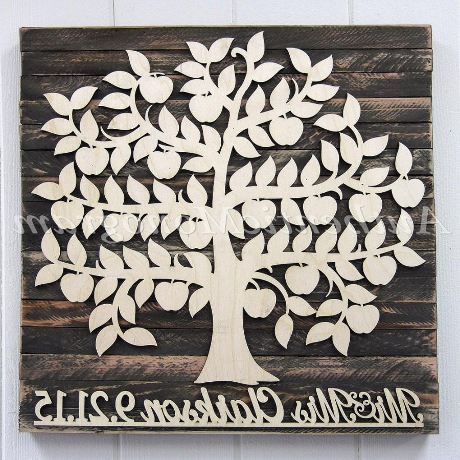 Personalized Wood Wall Art With Regard To Best And Newest Personalized Wedding Guest Book Wooden Sign For 200 Guest – Bridal (View 16 of 20)