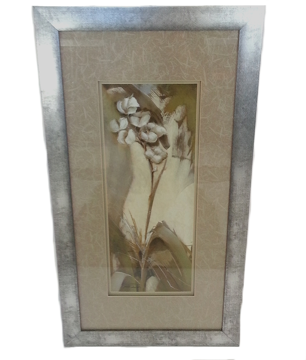 Picture Frame Wall Art Medium Flowers In A Silver Frame (Used Intended For Latest Silver Wall Art (Gallery 18 of 20)