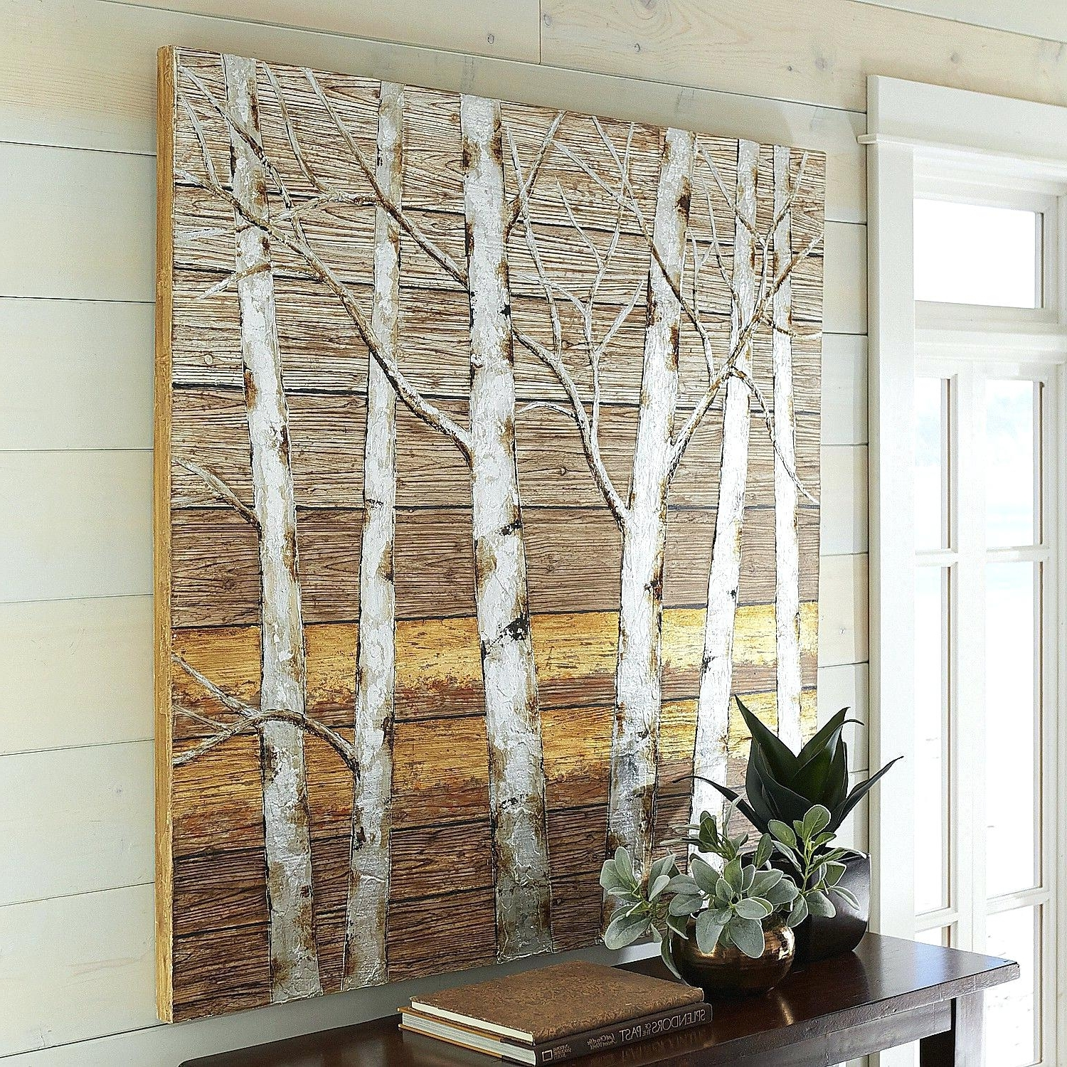 Pier 1 Wall Art With Regard To Most Up To Date Metallic Birch Trees Wall Art Pier 1 Imports One Decor (Gallery 8 of 20)