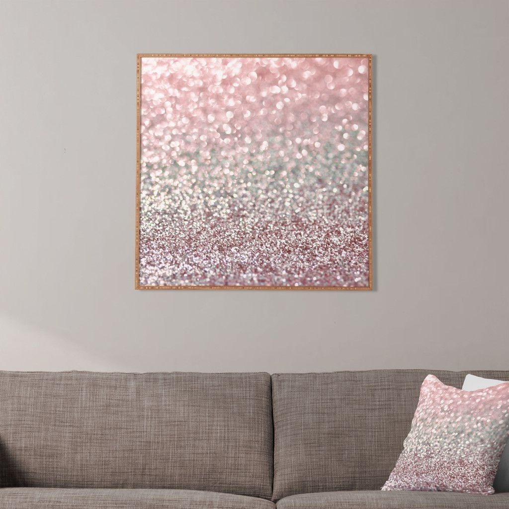 Pink Wall Art In Newest Lisa Argyropoulos Girly Pink Snowfall Framed Wall Art (Gallery 3 of 20)