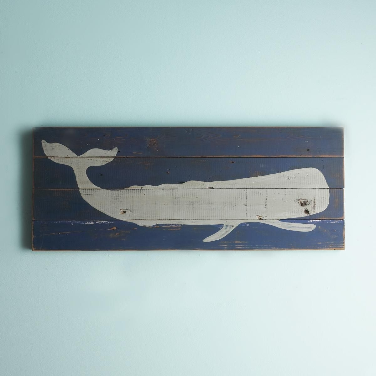 Plank Wall Art In Famous 16X40 Whale Silhouette Plank Wall Art Panel (View 14 of 20)