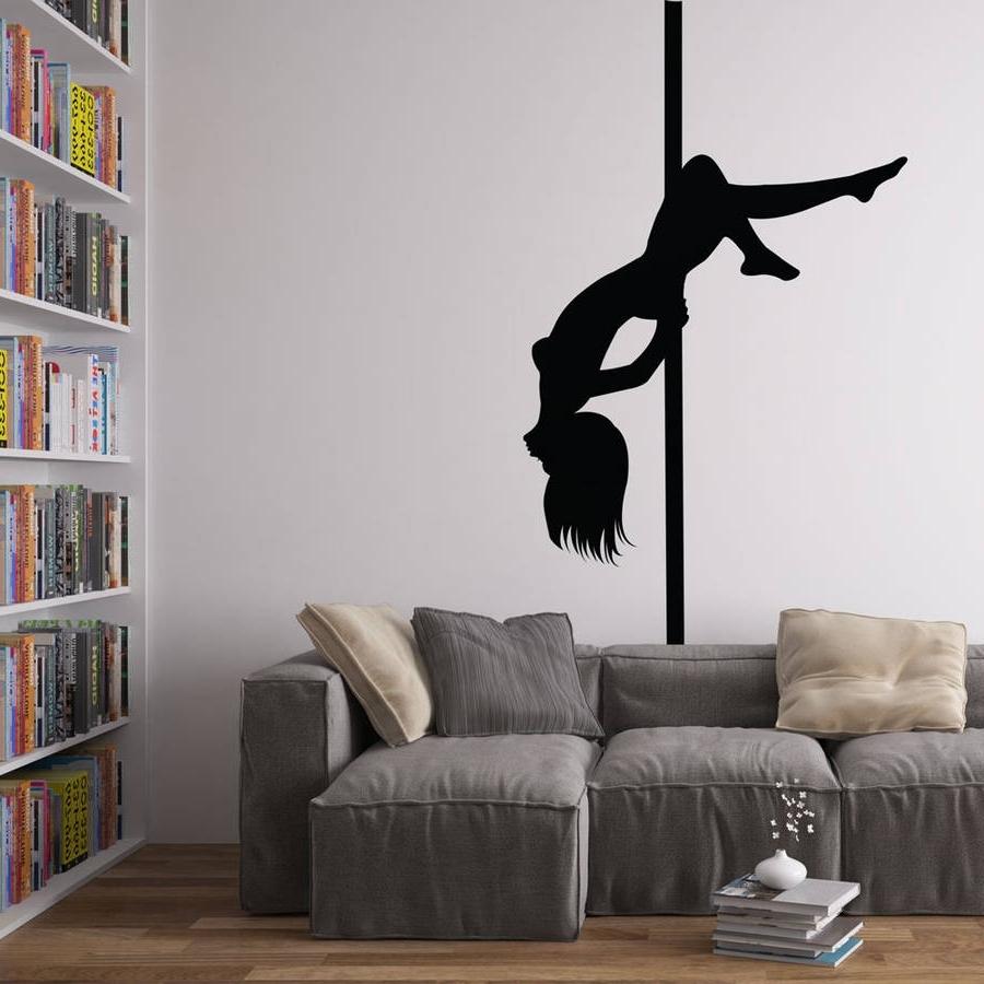 Pole Dancer Vinyl Wall Art Decalvinyl Revolution Intended For 2018 Vinyl Wall Art (Gallery 1 of 15)