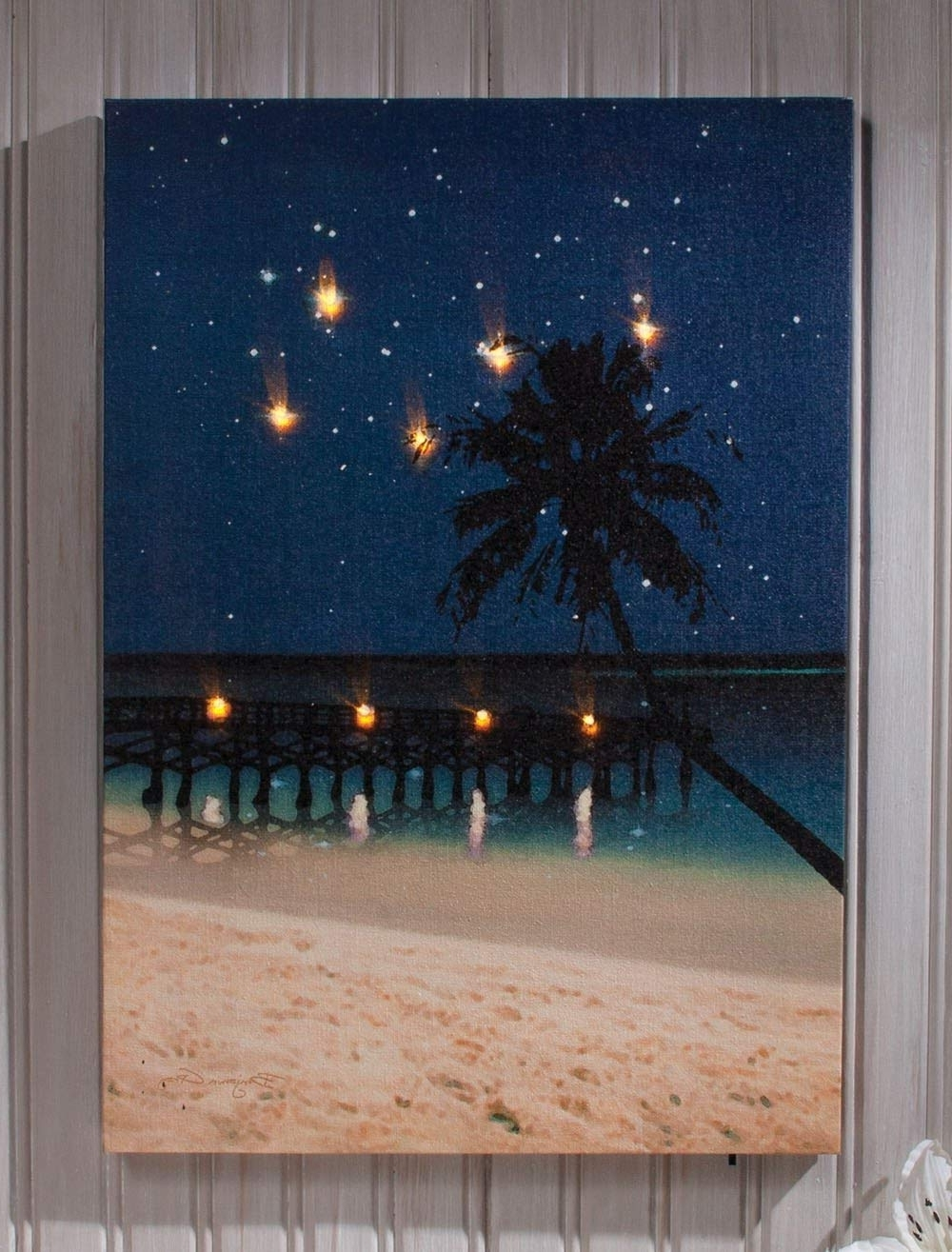 Popular Amazon: Ohio Wholesale Radiance Lighted Canvas Wall Art, Starry Intended For Lighted Wall Art (View 4 of 20)