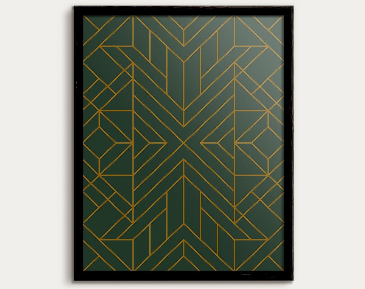 Popular Art Deco Print, Art Deco Poster, Art Deco Decor, Art Deco Pattern Throughout Art Deco Wall Art (View 15 of 20)