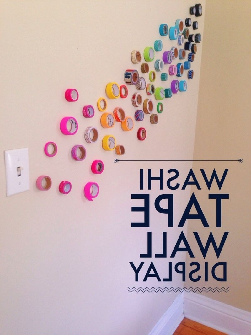Popular Artistic Wall Instillations {12 Months Of Making: Month 5} • Your With Washi Tape Wall Art (View 8 of 20)