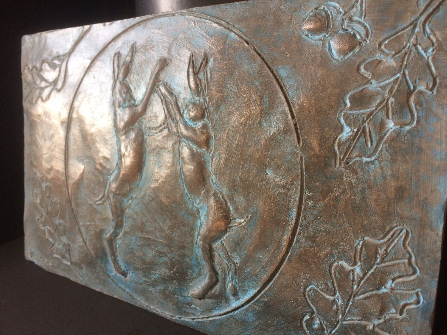 Popular Bronze Wall Art Regarding Boxing Hares Bronze Wall Art, Beautiful Artwork For The Home Or (View 15 of 20)