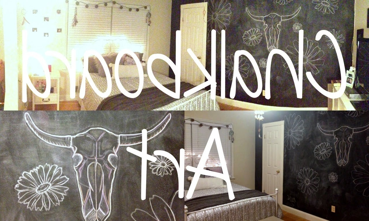 Popular Chalkboard Wall Art/ Bedroom Decor – Youtube With Chalkboard Wall Art (Gallery 5 of 20)
