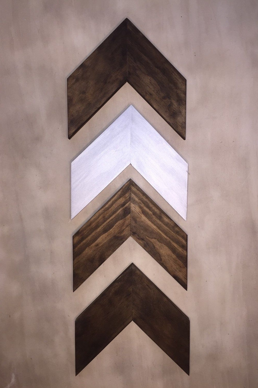 Popular Chevron Wall Art Regarding Set Of 4 Small Wood Chevron Arrows. Wood Arrow Wall Art (View 13 of 20)