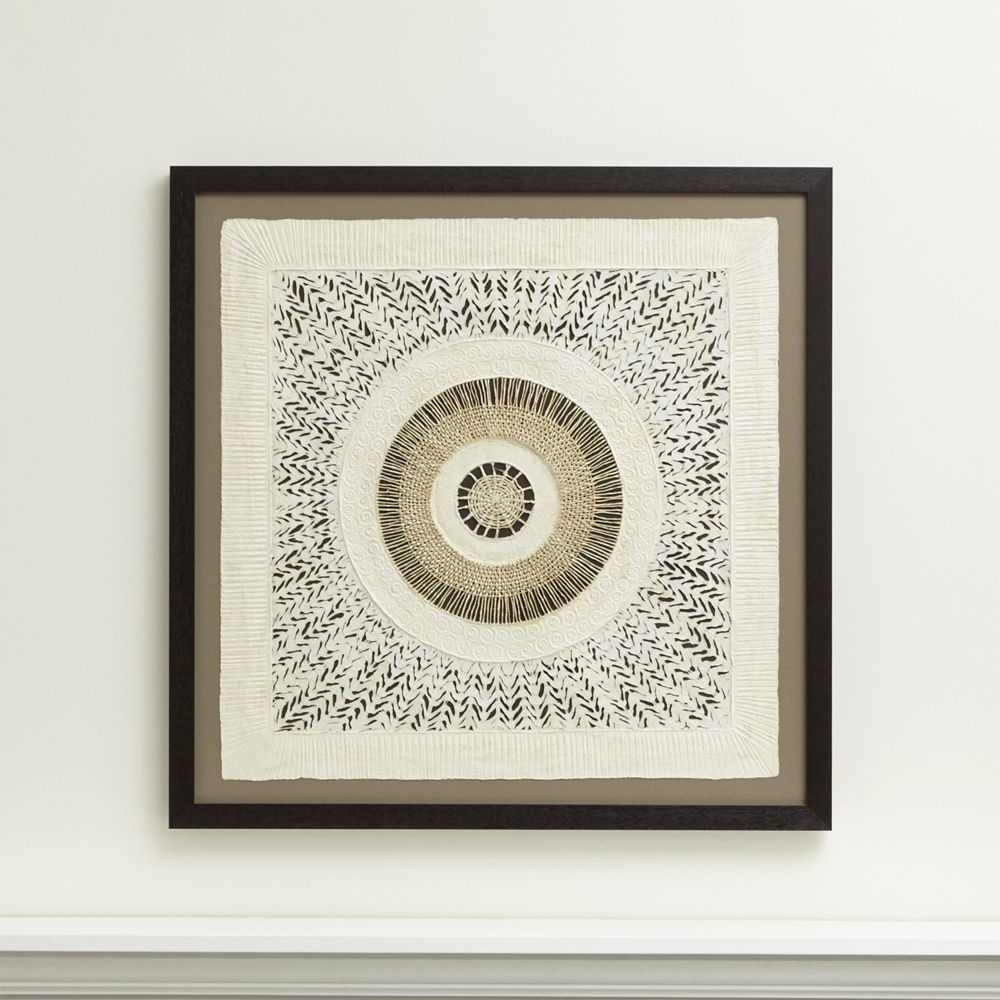 Popular Crate And Barrel Wall Art With Regard To Circulo De Papel Wall Art – Crate And Barrel (Gallery 14 of 20)