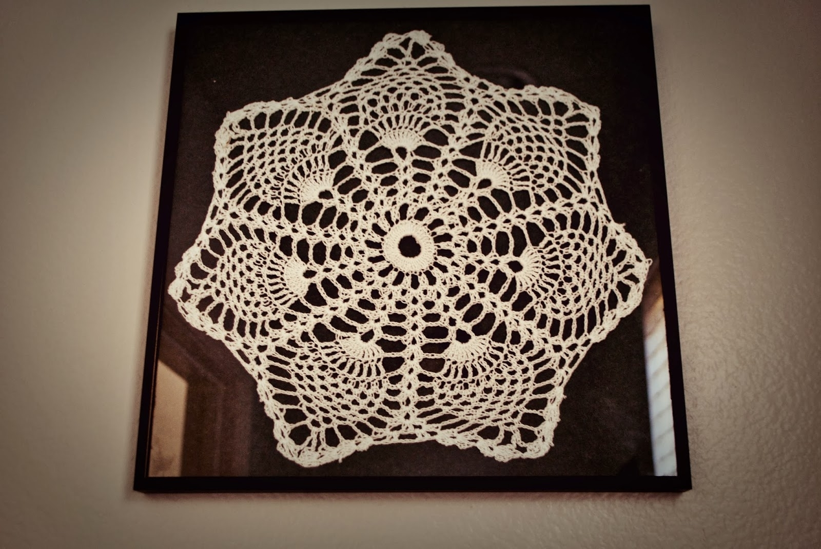 Popular Crochet Wall Art Inside Maya's Wonderland: Framed Crochet Doilies Wall Art (Gallery 12 of 20)