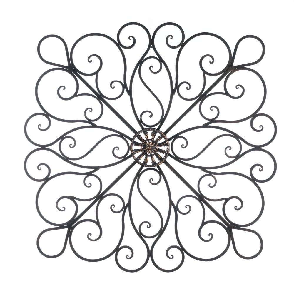 Popular Decorative Wall Art Pertaining To Metal Art Wall Decor, Scrollwork Modern Decorative Wrought Iron Wall (View 16 of 20)