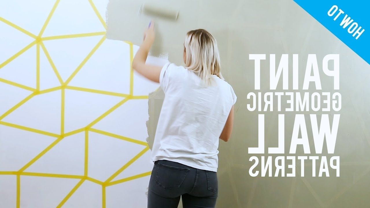 Popular Diy Painted Geometric Wall Decor – Youtube With Regard To Geometric Wall Art (View 13 of 20)