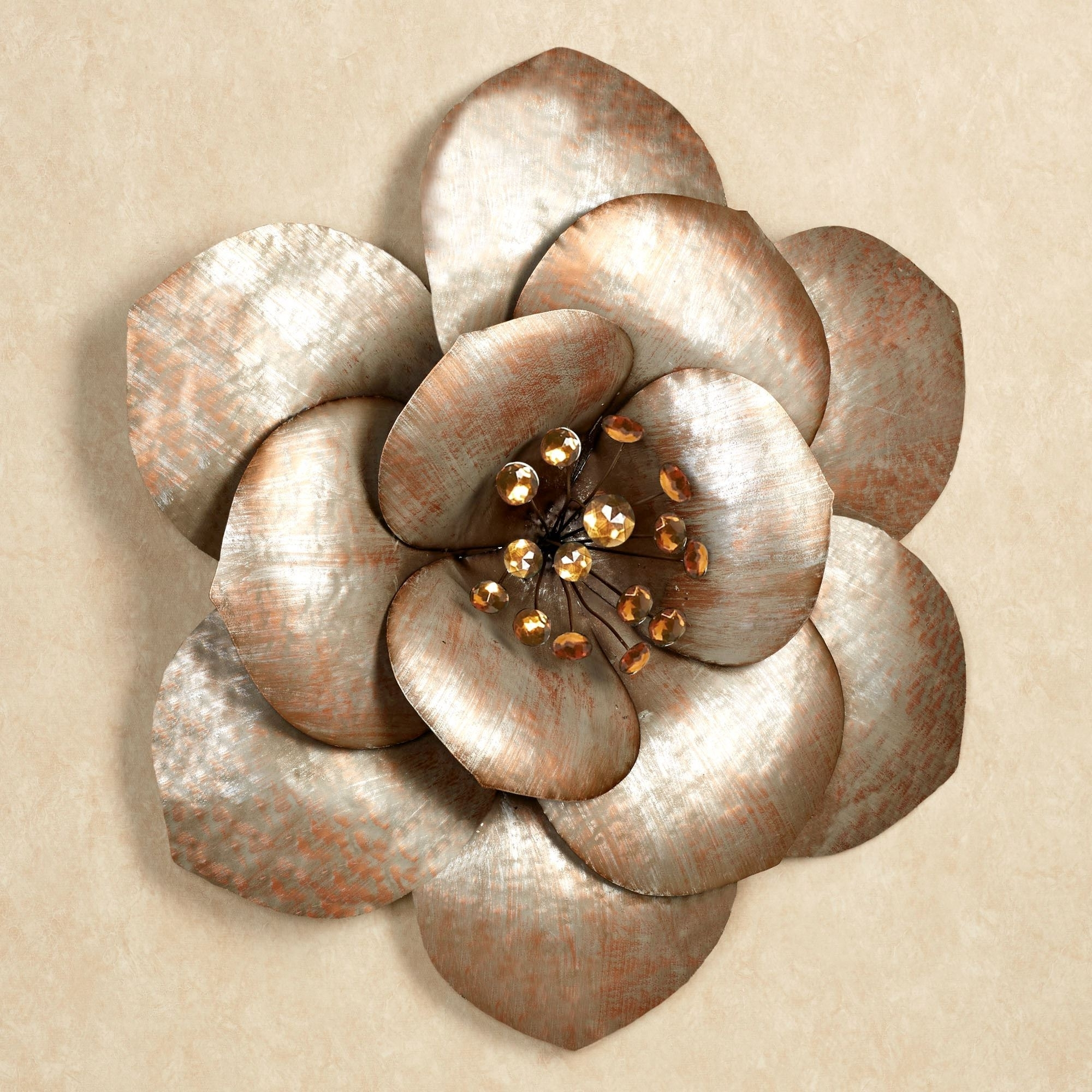 Popular Fiore Gem Flower Blossom Metal Wall Art In Metal Flower Wall Art (Gallery 7 of 15)