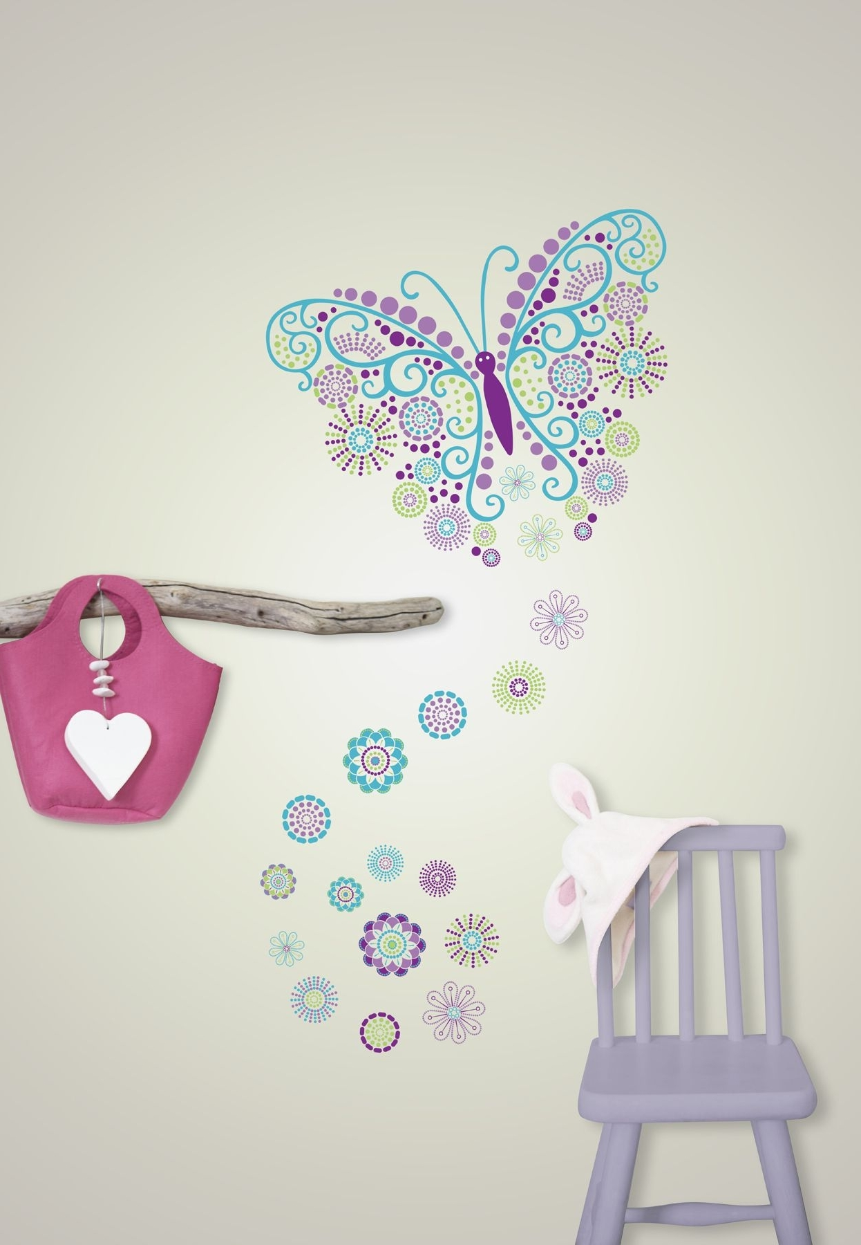 Popular Gorgeous Butterfly Wall Art Sticker Kit Pertaining To Butterfly Wall Art (View 13 of 15)