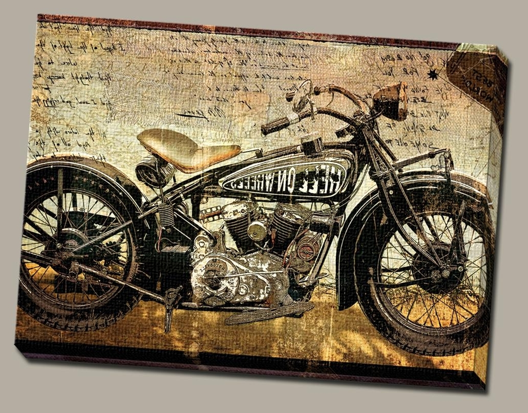Popular Harley Davidson Wall Art – Culturehoop With Regard To Harley Davidson Wall Art (View 17 of 20)