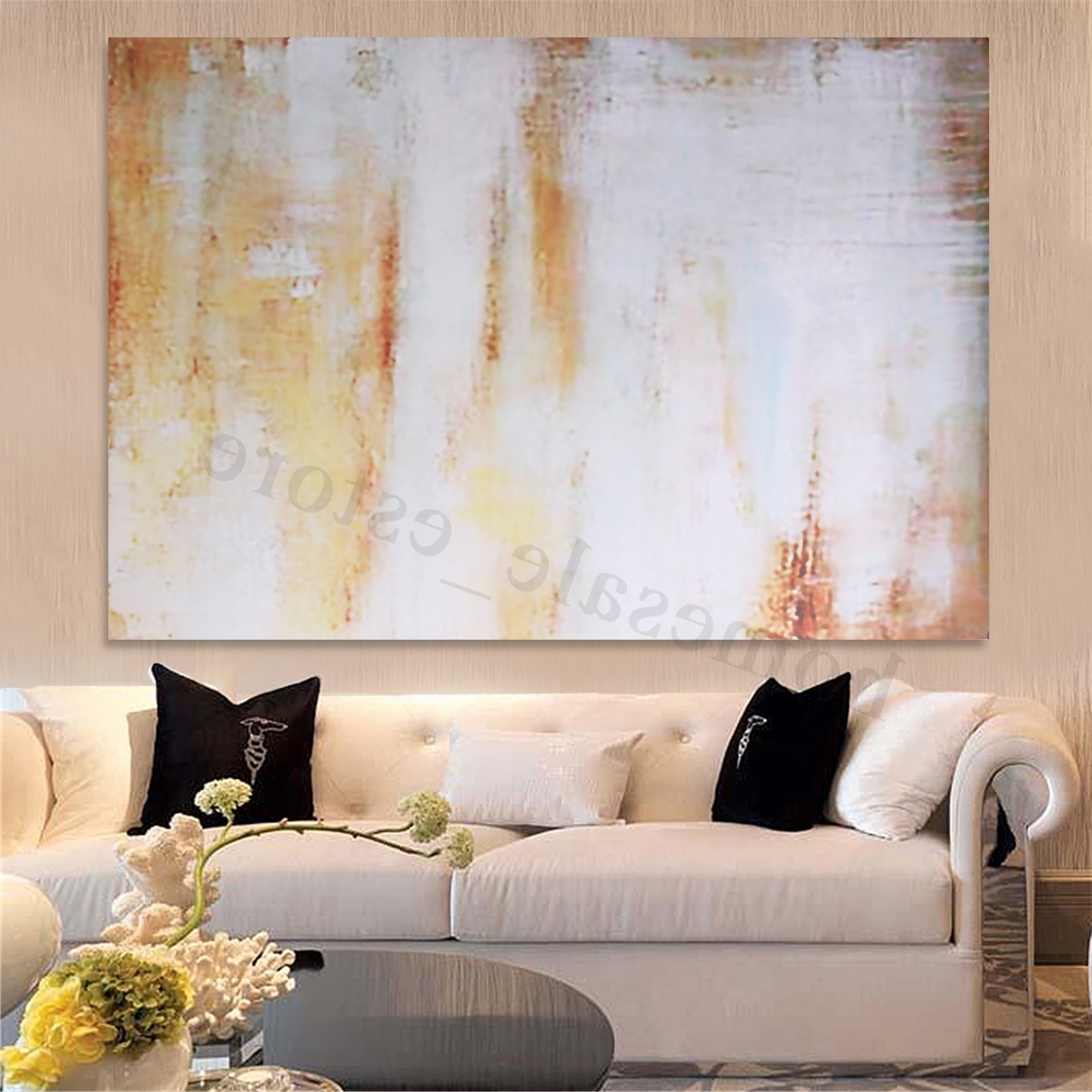 Popular Modern Framed Wall Art Canvas In Unframed/framed Modern Canvas Oil Painting Print Picture Wall Art (Gallery 19 of 20)