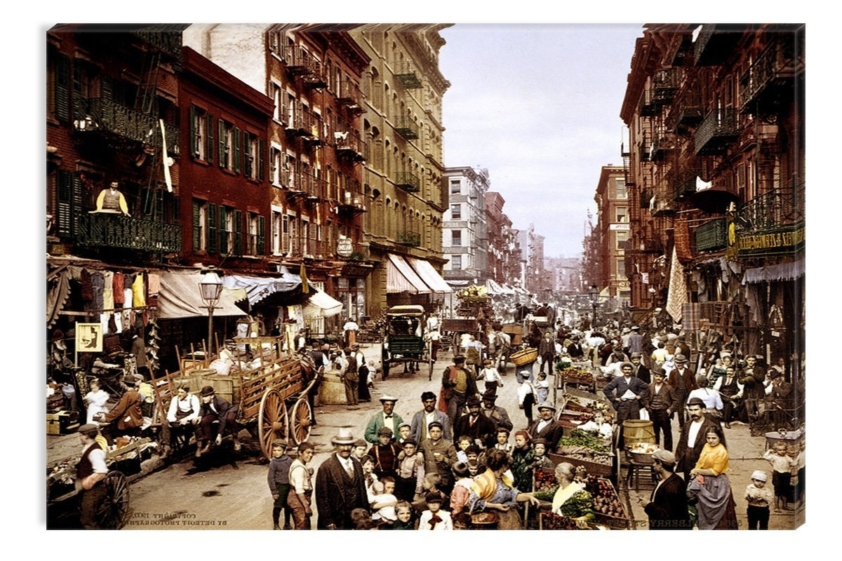 Popular Nyc Wall Art Within Startonight Wall Art Canvas Nyc Mulberry Street 1900 Photo (View 11 of 20)